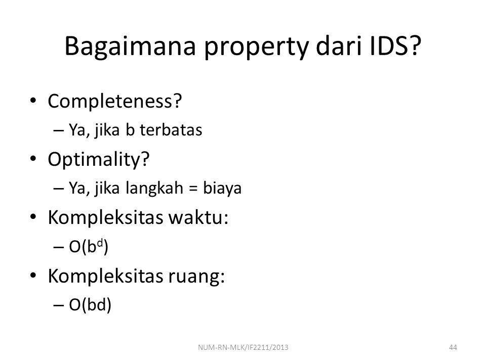 Bagaimana property dari IDS