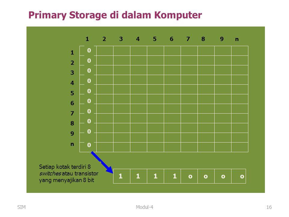 Primary Storage di dalam Komputer