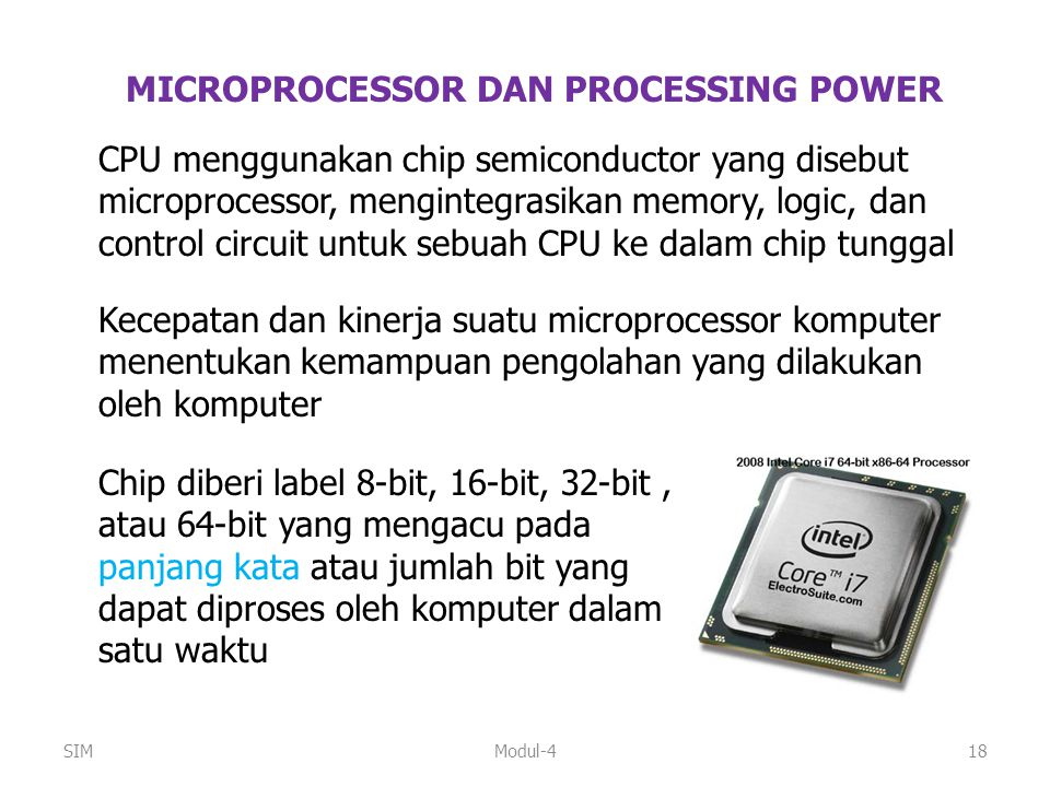 MICROPROCESSOR DAN PROCESSING POWER
