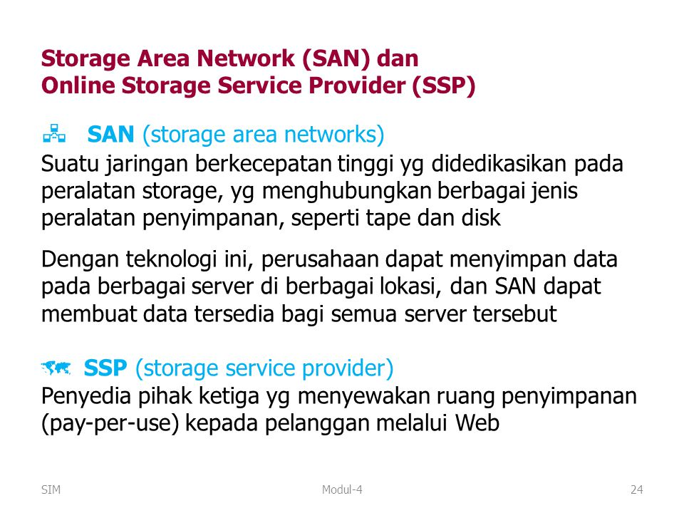  SAN (storage area networks)