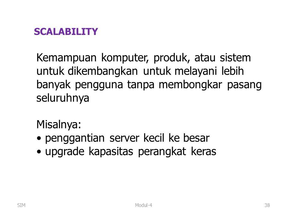 penggantian server kecil ke besar upgrade kapasitas perangkat keras