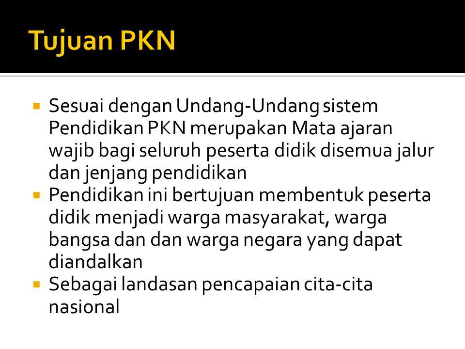 Tujuan PKN