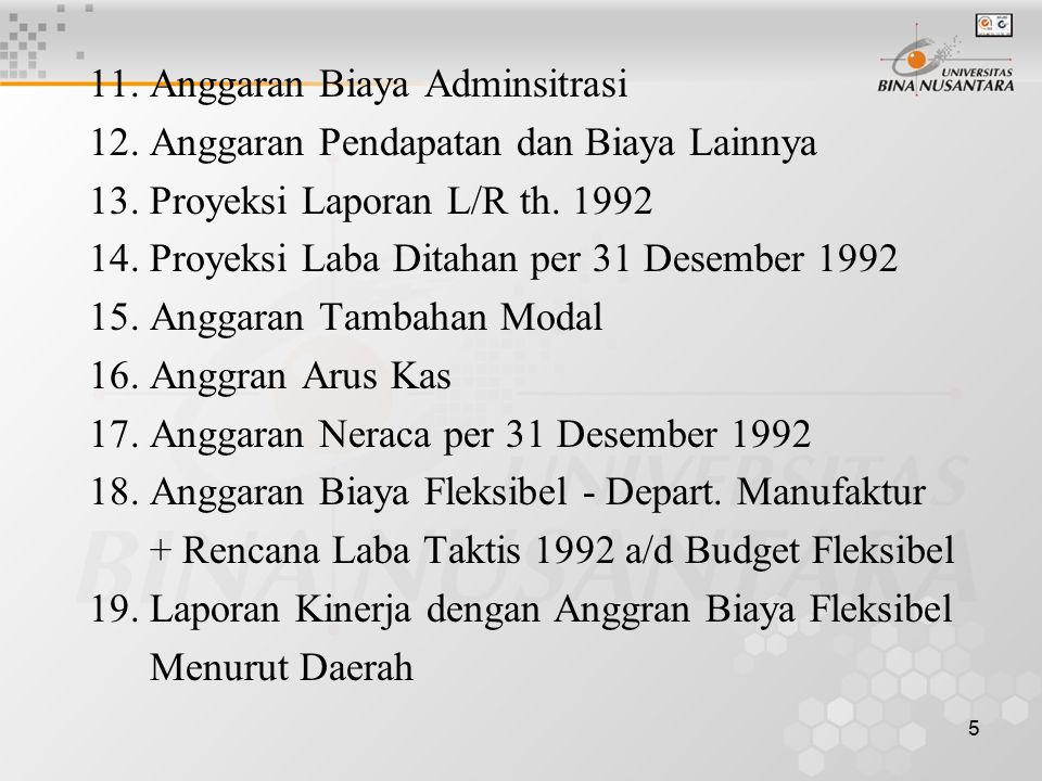 11. Anggaran Biaya Adminsitrasi