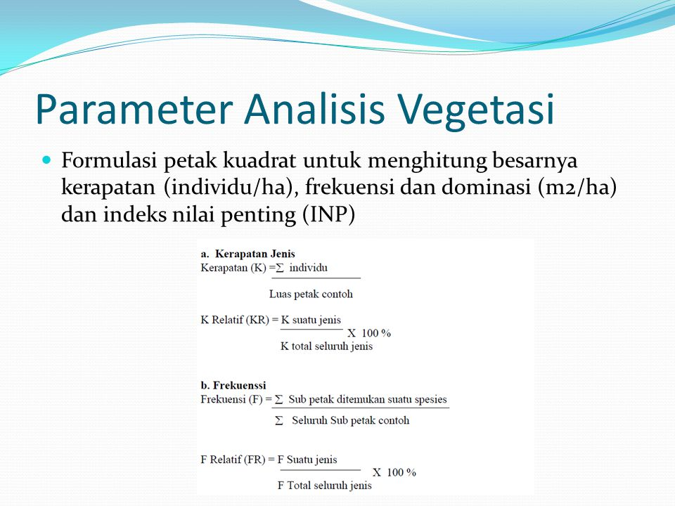 Parameter Analisis Vegetasi