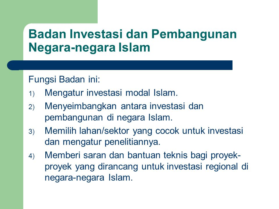 Badan Investasi dan Pembangunan Negara-negara Islam