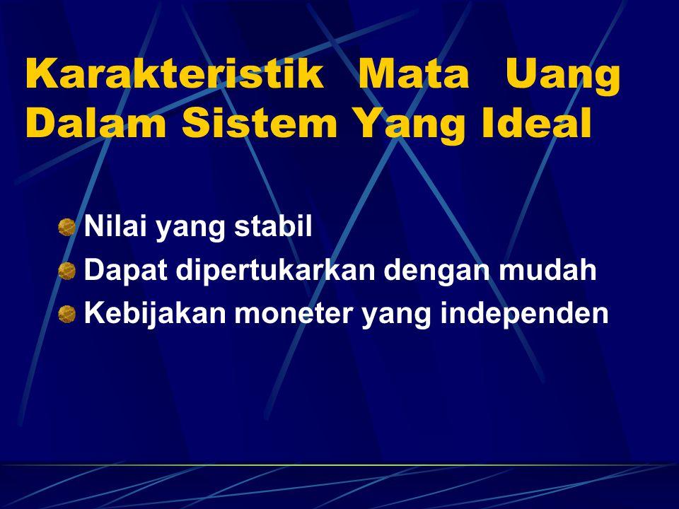 Karakteristik Mata Uang Dalam Sistem Yang Ideal