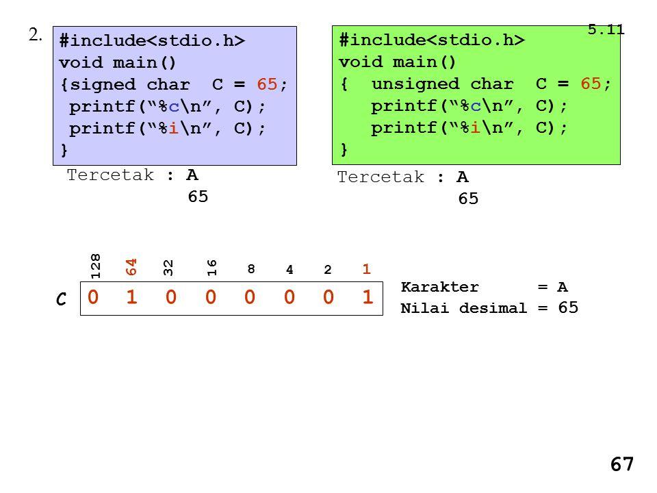 0 1 0 0 0 0 0 1 67 2. #include<stdio.h> #include<stdio.h>