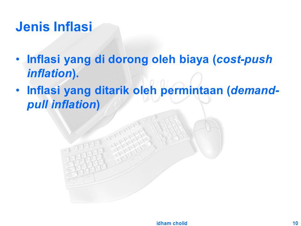Jenis Inflasi Inflasi yang di dorong oleh biaya (cost-push inflation).