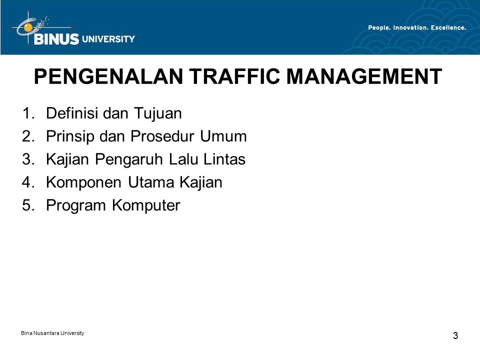 PENGENALAN TRAFFIC MANAGEMENT