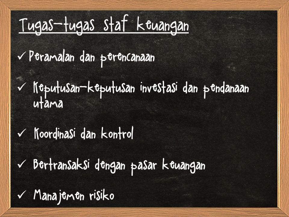 Tugas-tugas staf keuangan