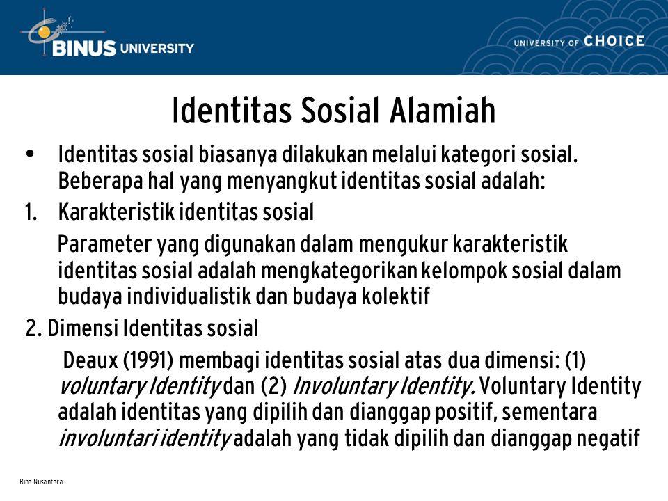 Identitas Sosial Alamiah
