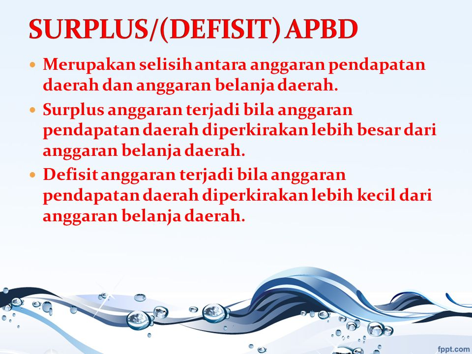 SURPLUS/(DEFISIT) APBD