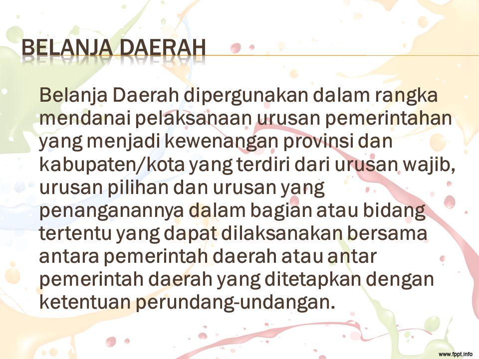 BELANJA DAERAH