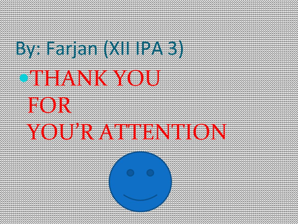 THANK YOU FOR YOU'R ATTENTION