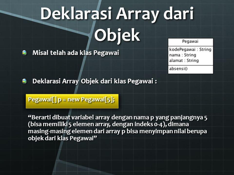 Deklarasi Array dari Objek