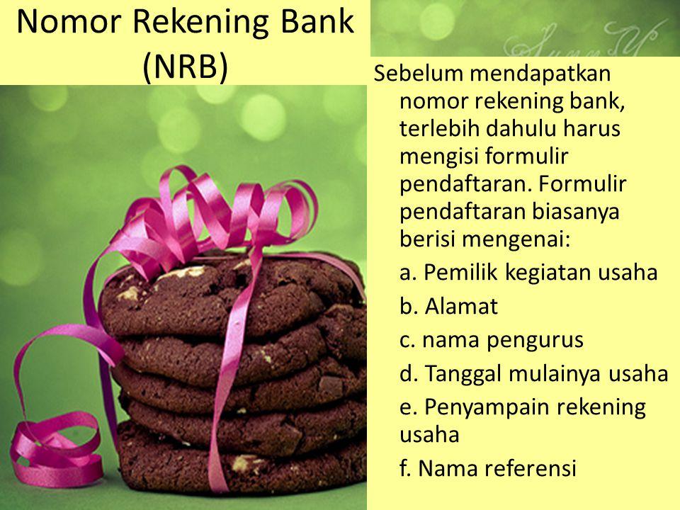 Nomor Rekening Bank (NRB)