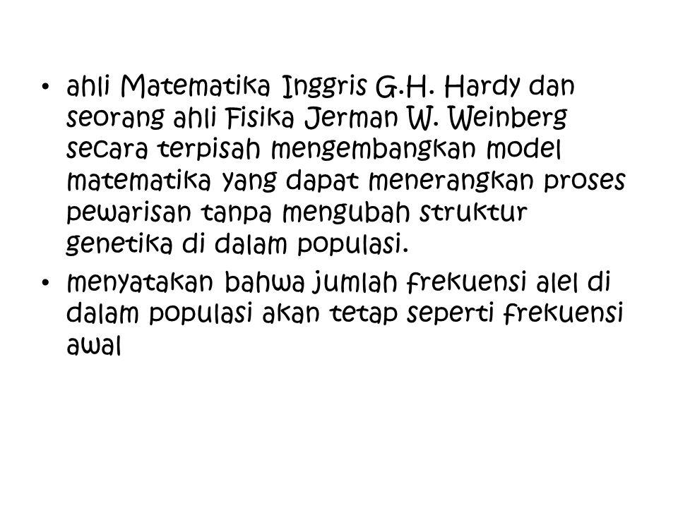 ahli Matematika Inggris G. H. Hardy dan seorang ahli Fisika Jerman W