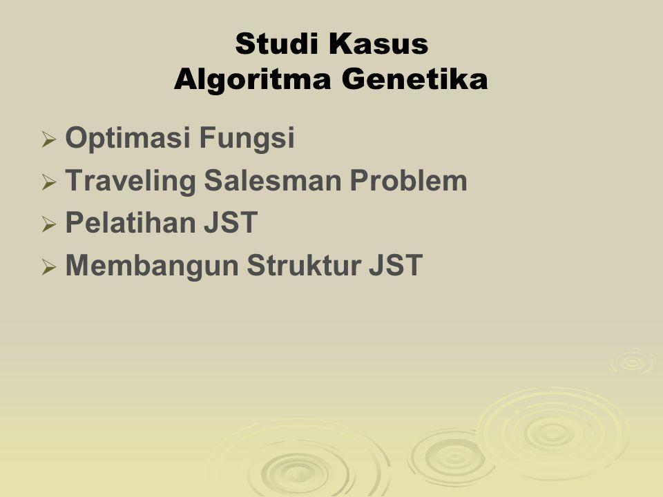 Studi Kasus Algoritma Genetika
