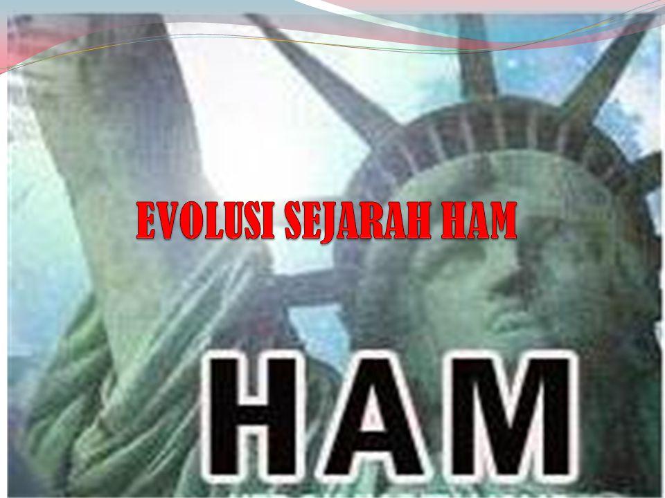 EVOLUSI SEJARAH HAM