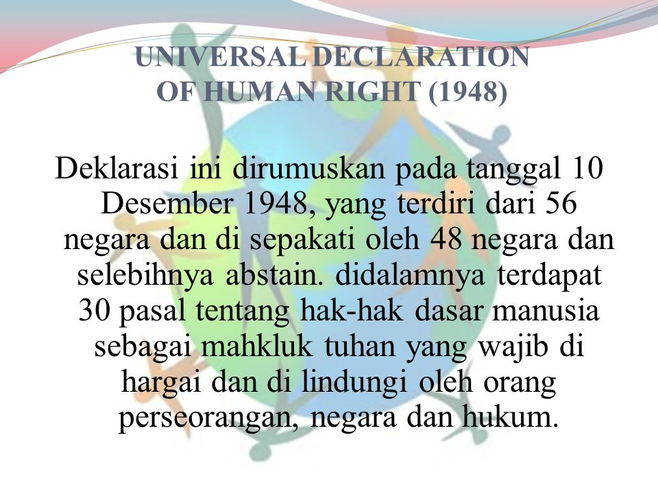 UNIVERSAL DECLARATION OF HUMAN RIGHT (1948)