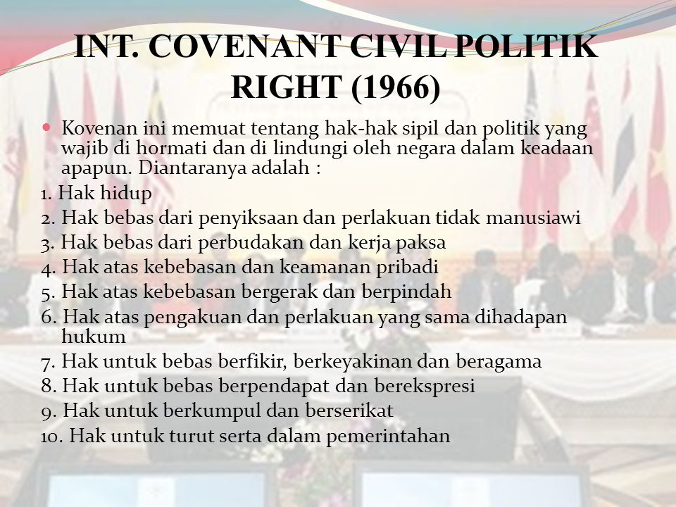 INT. COVENANT CIVIL POLITIK RIGHT (1966)