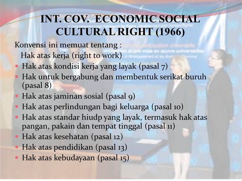INT. COV. ECONOMIC SOCIAL CULTURAL RIGHT (1966)