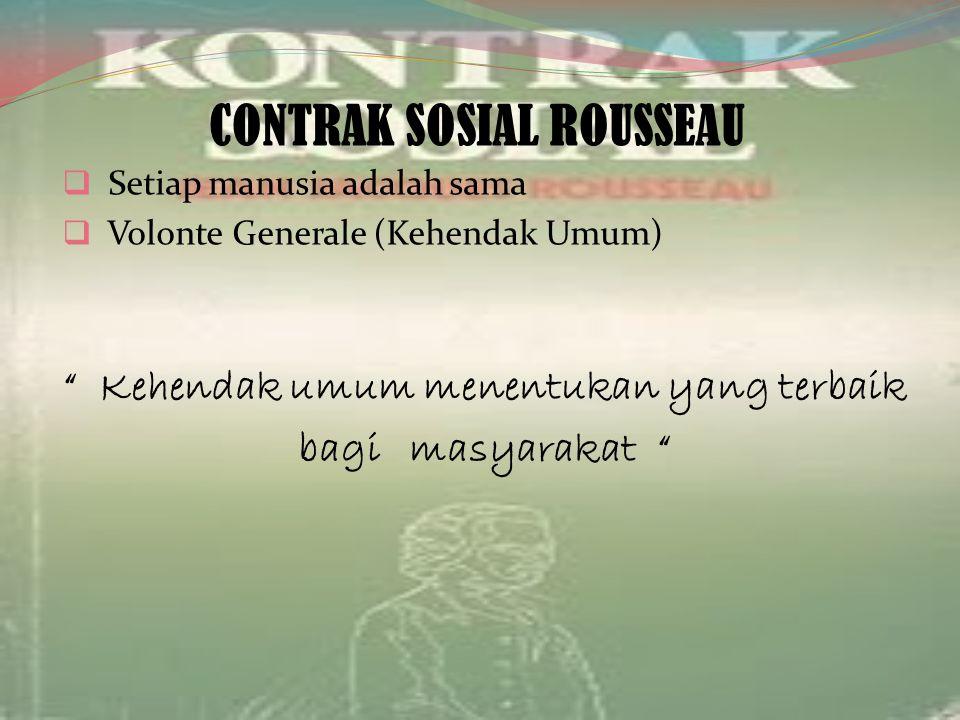 CONTRAK SOSIAL ROUSSEAU