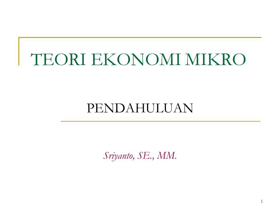 PENDAHULUAN Sriyanto, SE., MM.