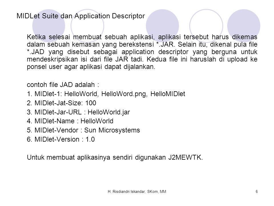 MIDLet Suite dan Application Descriptor