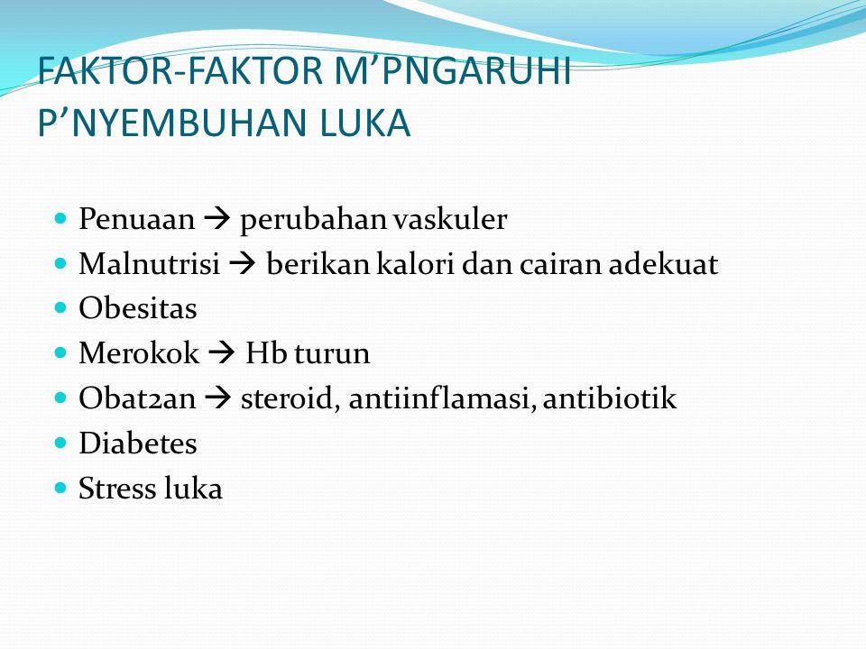 FAKTOR-FAKTOR M'PNGARUHI P'NYEMBUHAN LUKA