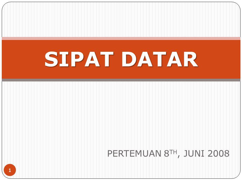 SIPAT DATAR PERTEMUAN 8TH, JUNI 2008 1