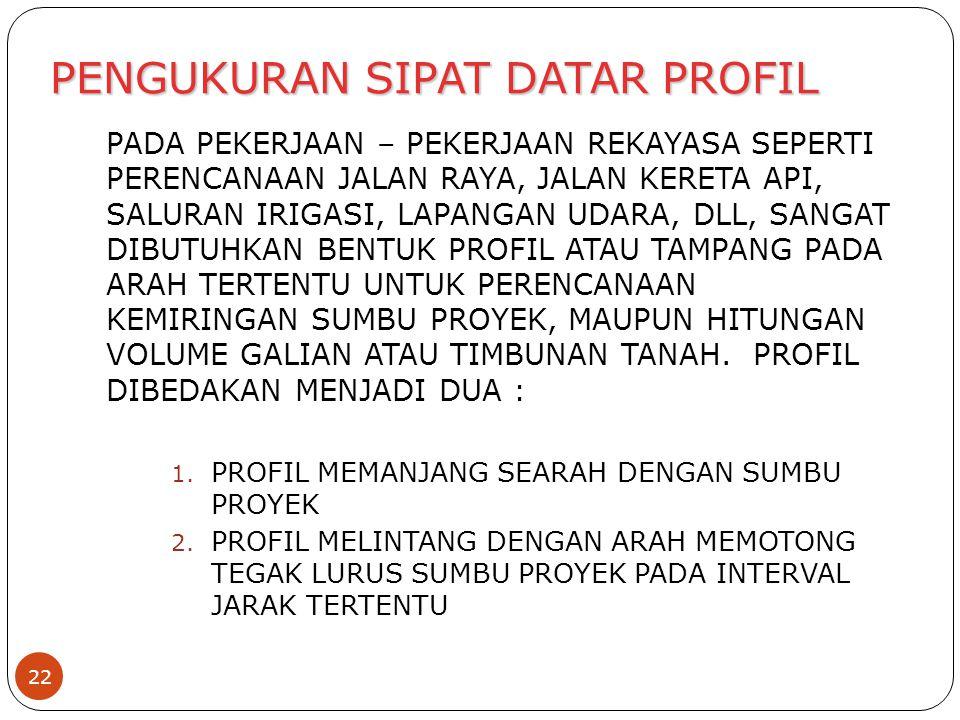 PENGUKURAN SIPAT DATAR PROFIL
