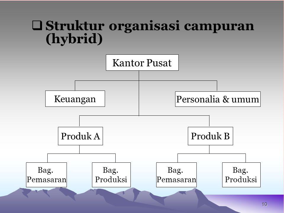 Struktur organisasi campuran (hybrid)