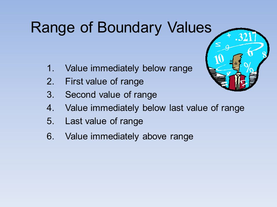 Range of Boundary Values