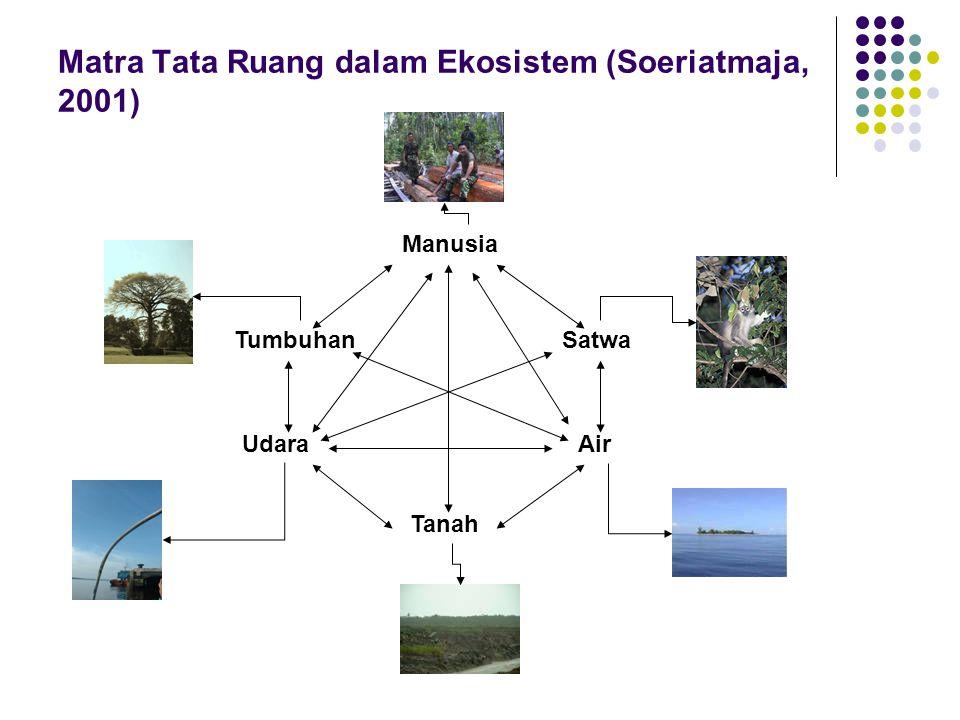 Matra Tata Ruang dalam Ekosistem (Soeriatmaja, 2001)