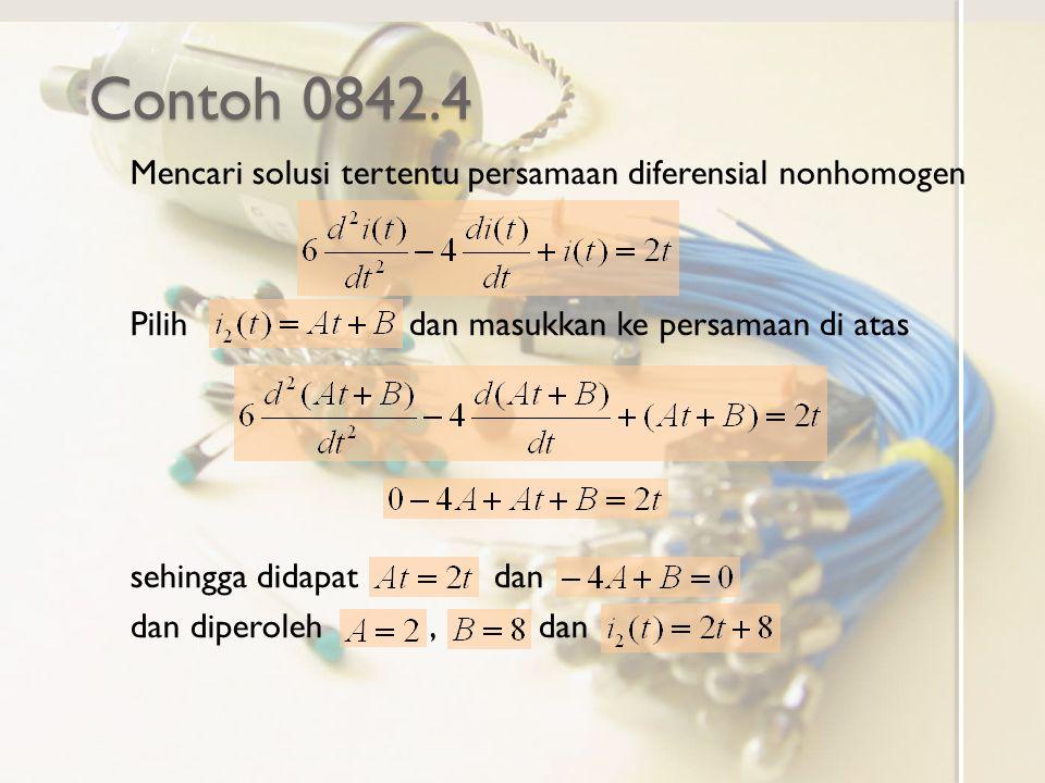 Contoh 0842.4 Mencari solusi tertentu persamaan diferensial nonhomogen