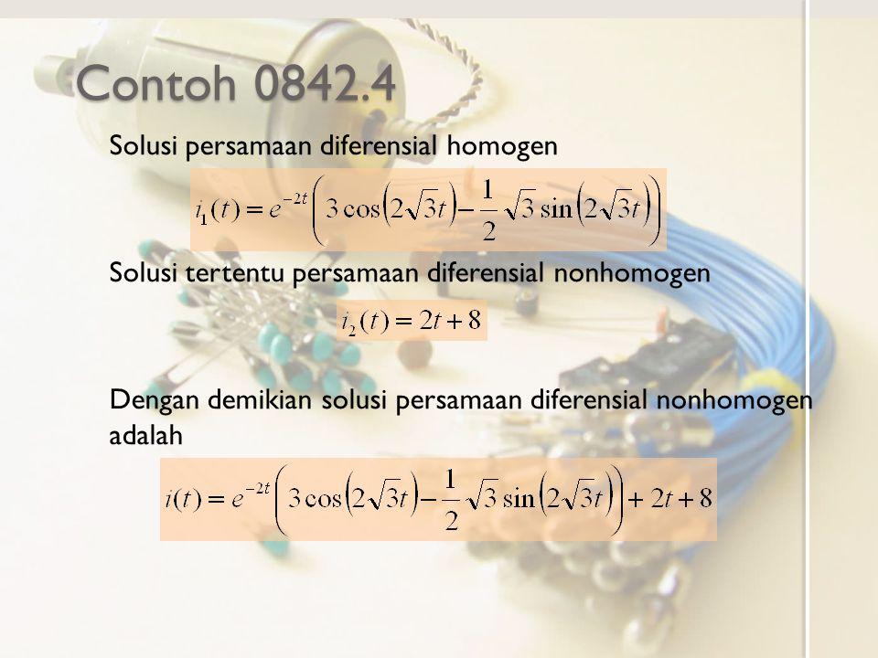 Contoh 0842.4 Solusi persamaan diferensial homogen