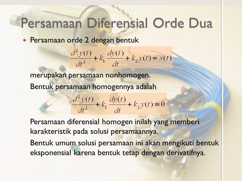 Persamaan Diferensial Orde Dua
