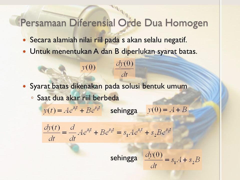 Persamaan Diferensial Orde Dua Homogen