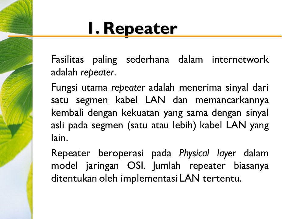 1. Repeater