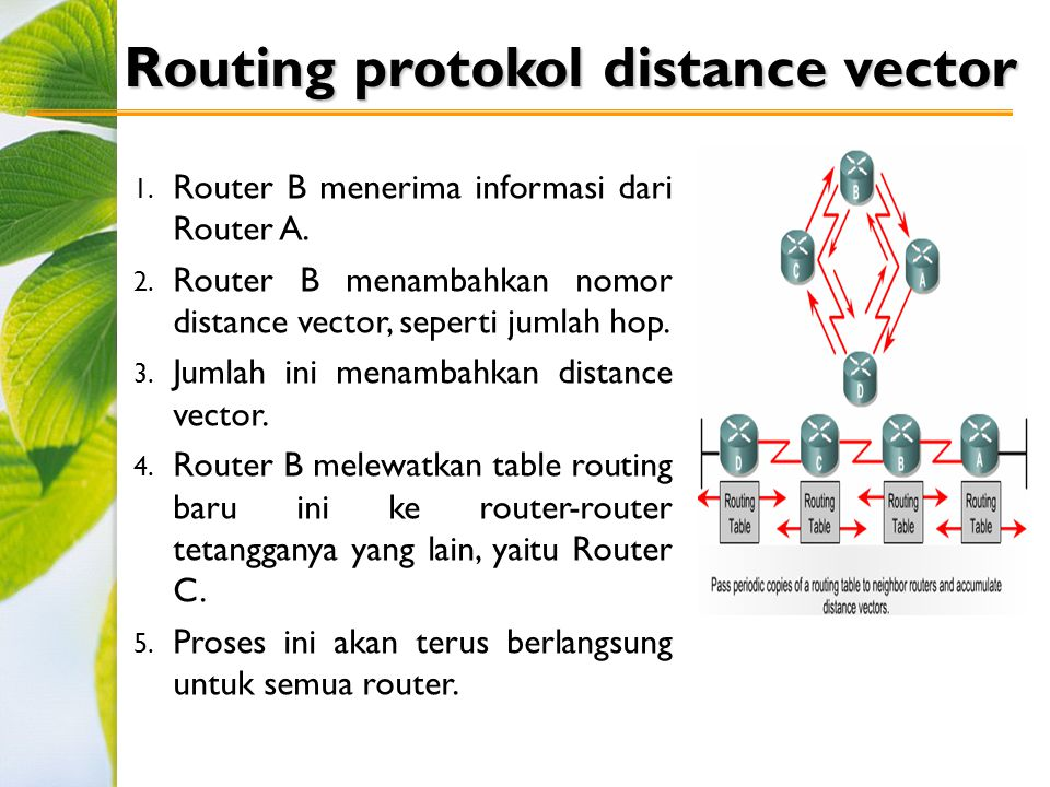 Routing protokol distance vector