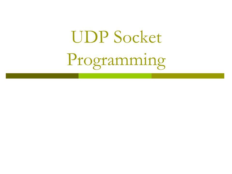 UDP Socket Programming