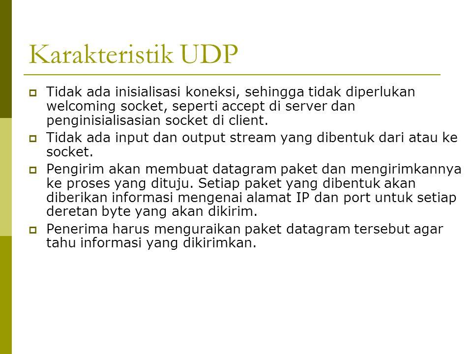 Karakteristik UDP