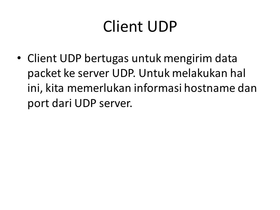 Client UDP