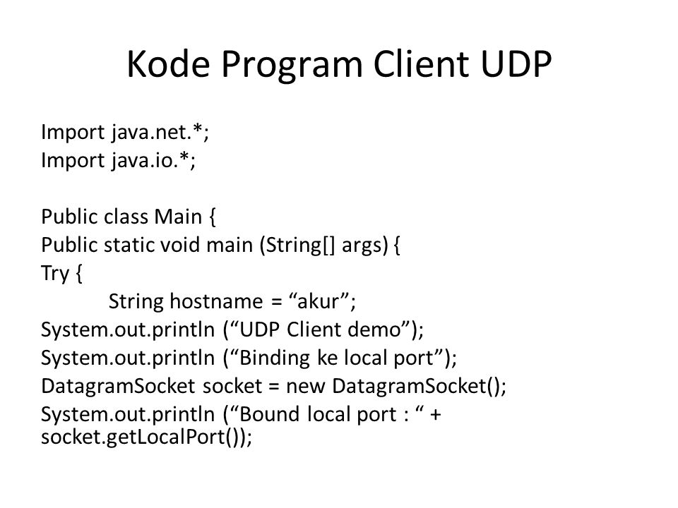 Kode Program Client UDP