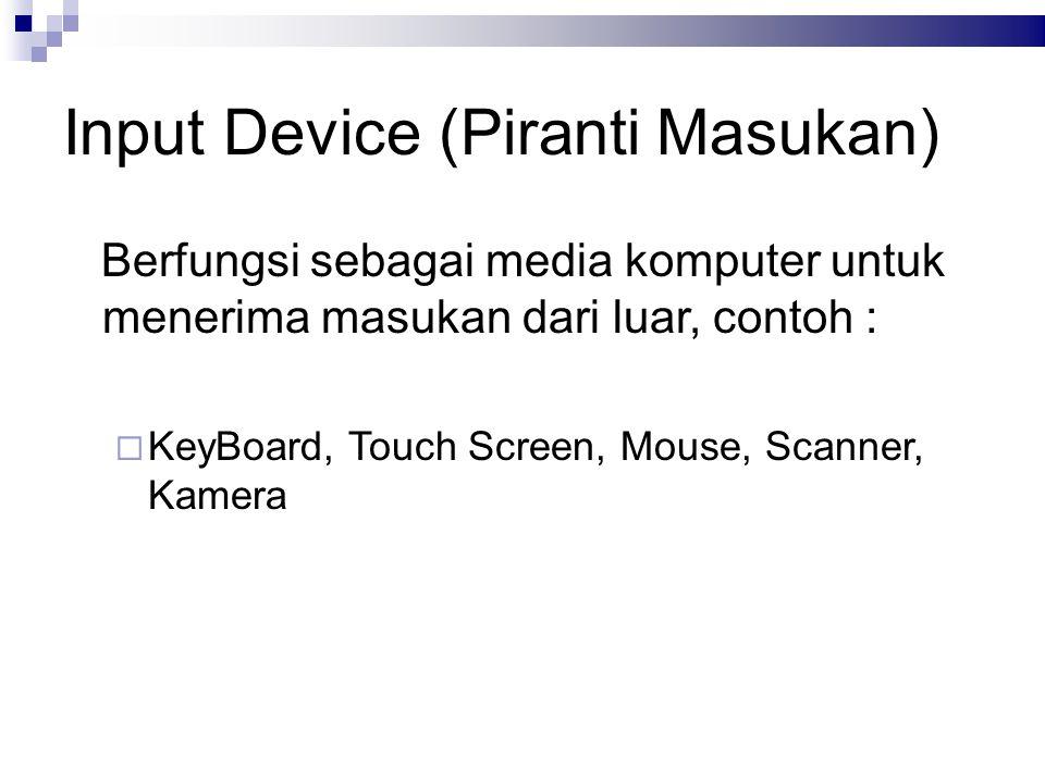 Input Device (Piranti Masukan)