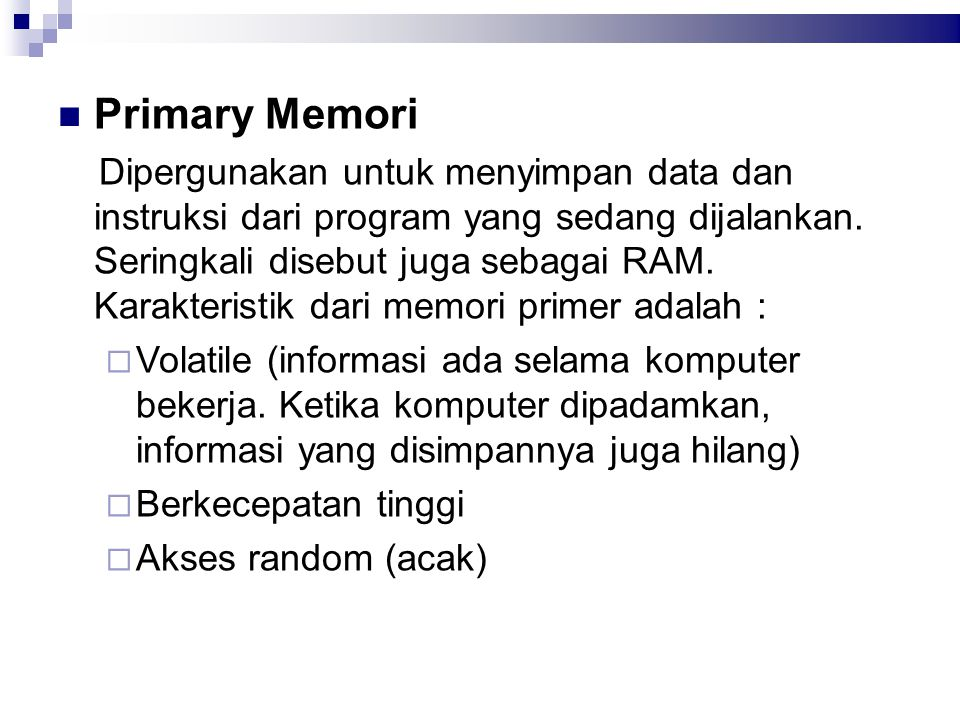 Primary Memori