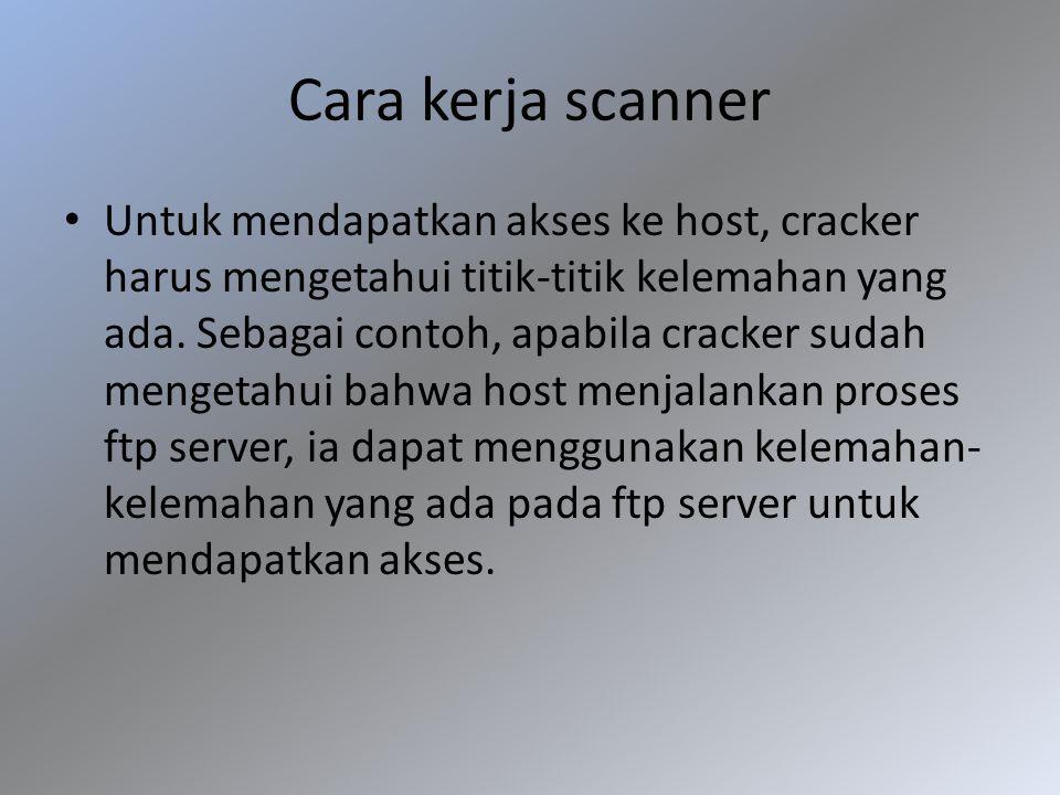 Cara kerja scanner