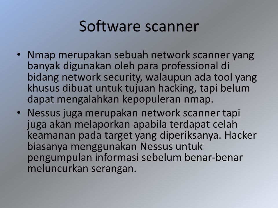 Software scanner