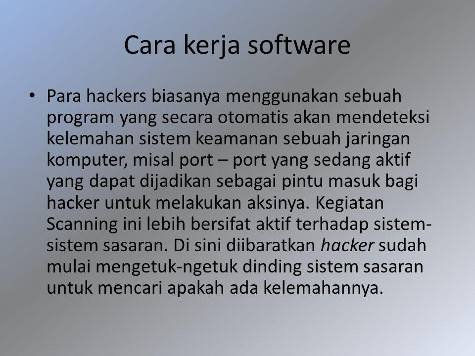 Cara kerja software